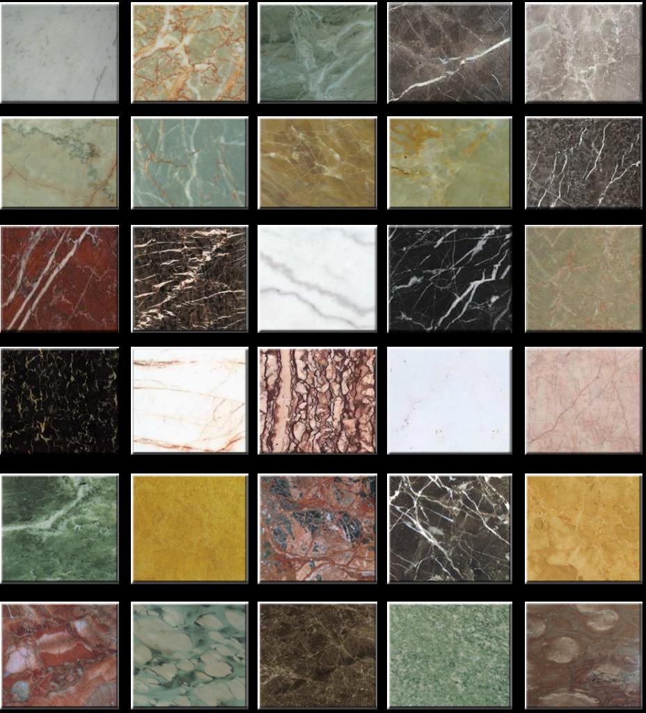Виды керамических плиток