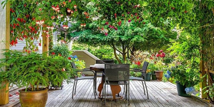 Оформление летней веранды - фото