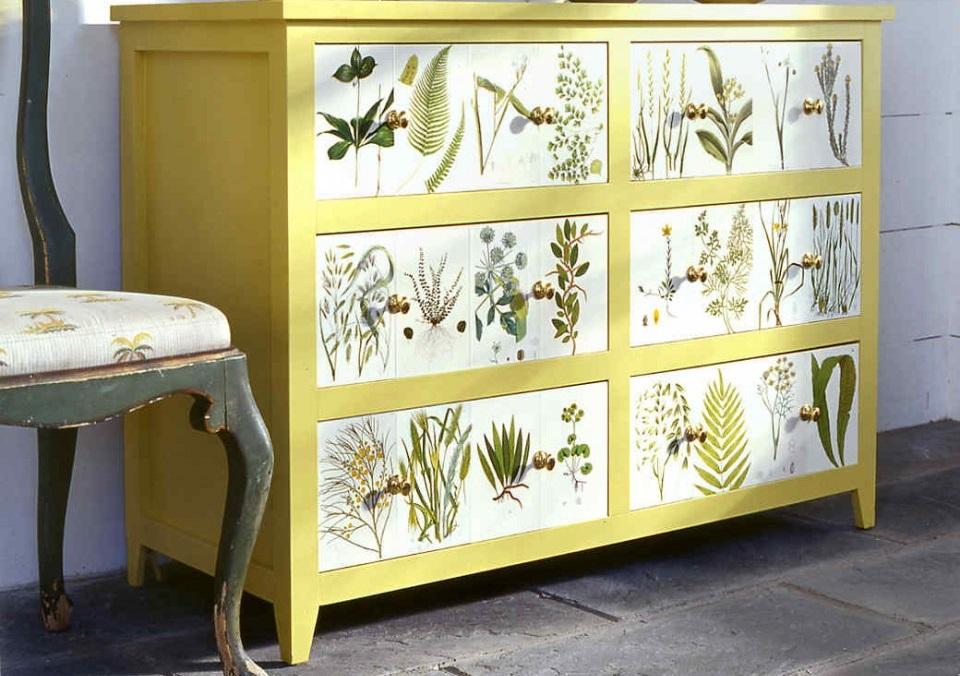 Ремонт мебели с помощью обоев