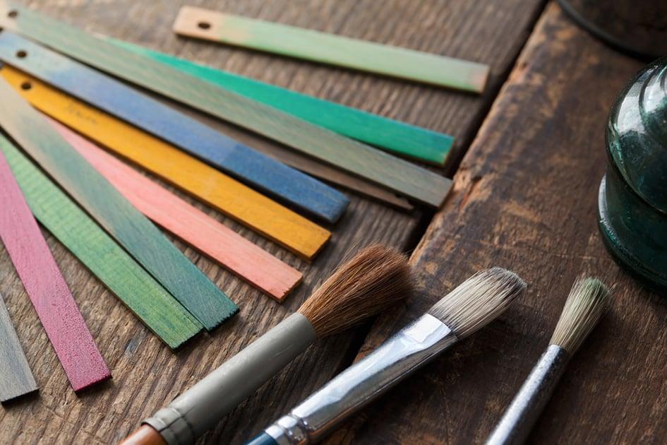 Ремонт мебели с помощью меловой краски