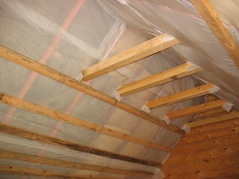 Утепление потолка веранды