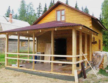 Строительство веранды к дому - фото